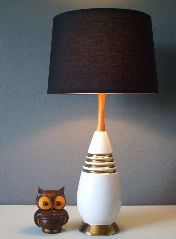 Vintage Mid Century Mad Men Ceramic Lamp
