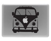 VW Bus Front End - Vinyl Decal Sticker for the Macbook