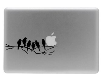 Love Birds on a Limb - Vinyl Decal Sticker for the Macbook or Laptop