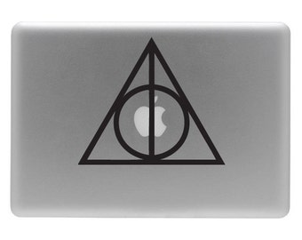 Harry Potter Deathly Hallows Symbol - Vinyl Decal Sticker for you Apple Macbook
