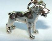 ROTTWEILER Dog 3 D Charm STERLING Silver