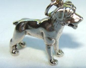 ROTTWEILER Dog 3 D Charm STERLING Silver