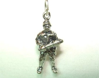 Sterling RIOT COP Charm Policeman with Night Stick