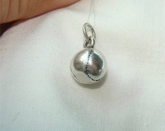 3 D Baseball Charm in STERLING Silver