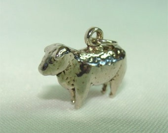 Sterling Silver SHEEP Farm Animal CHARM Great for Rodeo Season