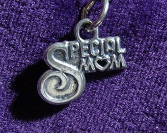 L.O. SPECIAL Mom Sterling SILVER Charm