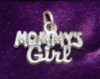 Necklace or CHARM Mommy's Girl in STERLING Silver
