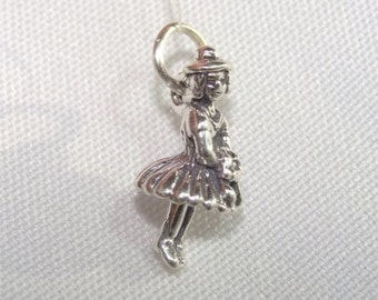 Wedding Bride's Maid or Flower Girl CHARM in STERLING Silver