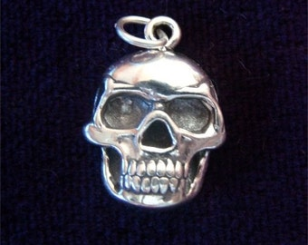 Sterling Silver SKULL Skeleton Charm HALLOWEEN
