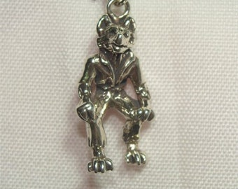 STELING Halloween Scarey Creepy Movie Star WOLFMAN Weirwolf CHARM