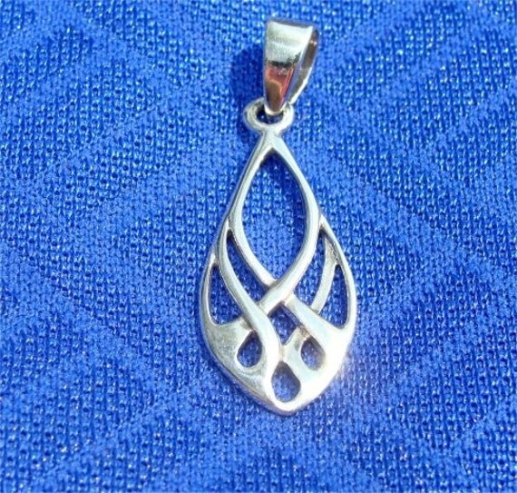 celtic earth symbol fire in sterling silver