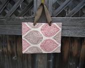 Reversible Tote Bag Purse in Earthy Hues