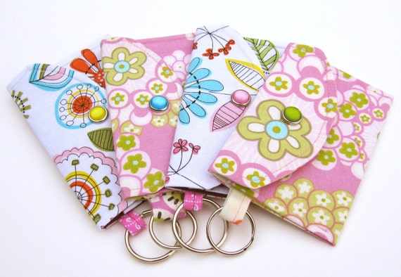 Cotton Mini Wallet You Choose Fabric Amy Butler or Michael Miller