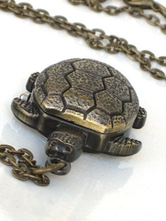 Items Similar To Steampunk Snapping Turtle Pocket Watch
