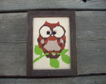 Cute Vintage Owl Wall Picture