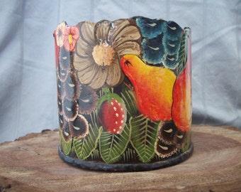 Vintage Colorful Metal Candle Holder