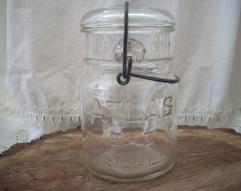 clamp lid mason jar etsy. Black Bedroom Furniture Sets. Home Design Ideas