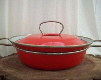 Retro Red Orange Pot