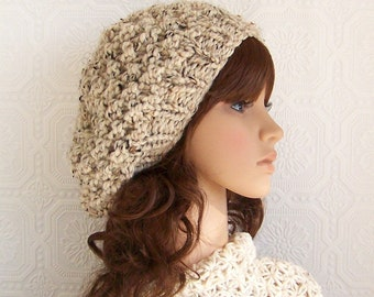 Hand knit hat - your color choice or oatmeal -  handmade Winter Fashion Winter Accessories Sandy Coastal Designs
