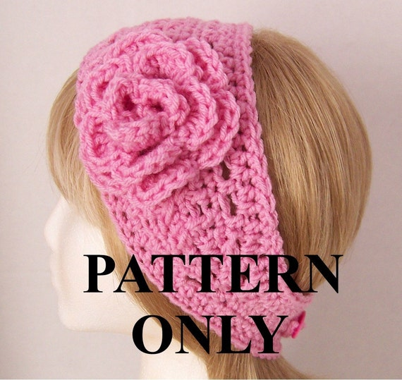 crochet pattern headband head wrap ear by SandyCoastalDesigns