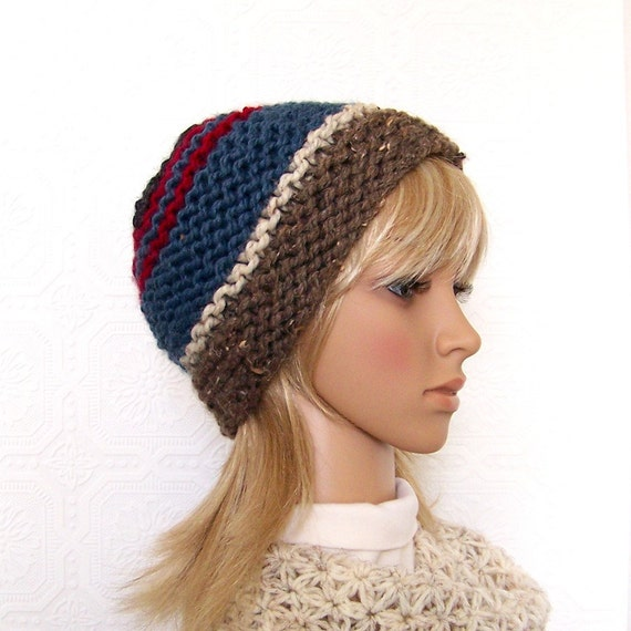 Hand knit hat, beanie, ready to ship - womens winter hat, knit beanie, multicolor, Winter Fashion Winter Accessories - Sandy Coastal Designs
