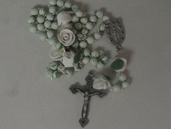 May Birthstone Rosary--Emerald