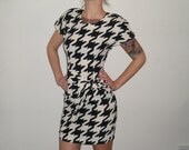 80's (60's inspired) Mod Houndstooth Dress Size 3