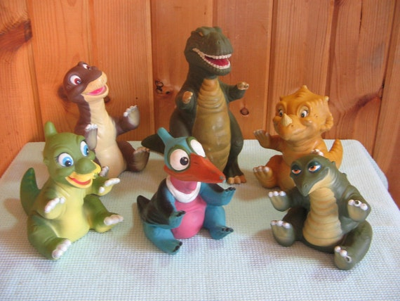 Land Before Time Toys : Land before time rubber dinosaur toys set of six