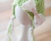 NEW Newborn Bow Pixie Bonnet