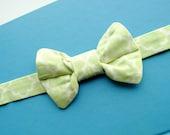 ADJUSTABLE Boy Bow Tie-Mint Green Quatrafoil