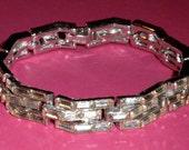 RESERVED Vintage Rhinestone Bracelet  Jewelry by Ledo