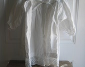 French 19th Century Linen Childs  Gown - GentlemanlyPursuits