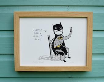 Batman Screenprint