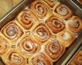 Fresh whole-wheat cinnamon rolls