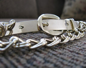 Chain Belt Gold Buckle 80s Style Small
