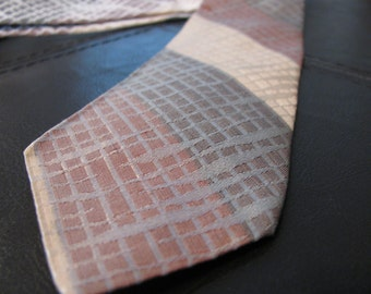 Mens Skinny Tie by Cornell All Silk Brown Tan