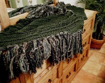 Holiday Decor Irish Celtic Dark Green Home Decor Throw Blanket Christmas Lap Warmer Green Afghan