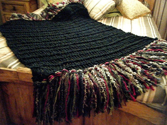 Black Home Decor Red Olive Taupe Home Decor Fringe Throw