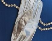 Vintage Silver Nylon Wrist Gloves