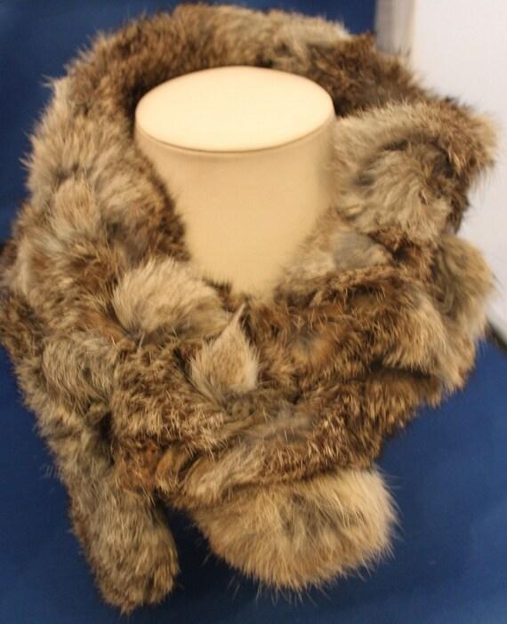 vintage valerie stevens rabbit fur scarf. Black Bedroom Furniture Sets. Home Design Ideas