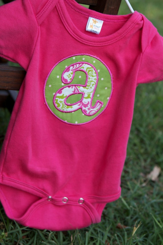 Onesie with Initial... Also available as a gift set