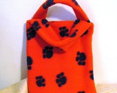 Small Orange and Blue Tote Book Bag Fleece Go Wildcats