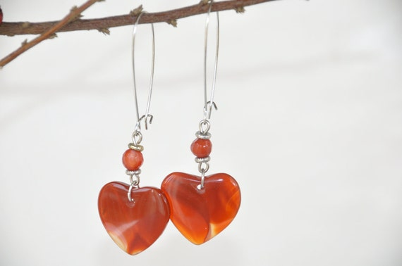 agate heart earrings,heart, valentine days