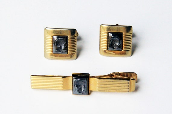 The Warrior in You Tie Clip and Cuff Links
