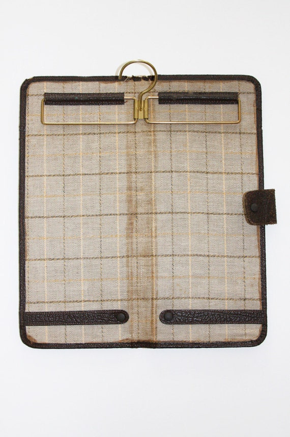 Let's Go Brown Leather Tie Travel Case