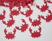 50 Red Crab Confetti, Under the Sea, Baby Shower - No190