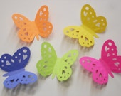 50 Large Bright Silhouette Embossing Butterfly punch die cut cutout scrapbooking embellishments - No237
