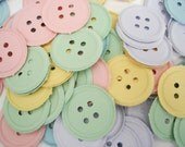 100 Pastel Button punch die cut scrapbooking embellishments - No437
