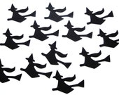 50 Halloween Black Witch die cut punch confetti cutouts scrapbooking embellishments - No884