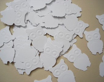 100 White Owl punch die cut embellishments - No788